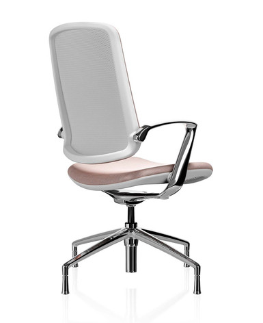 Trinetic Chair - White Frame with Chrome 4 Star Glides