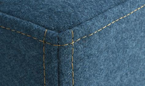 Cubix Stool Contrast Top Stitching