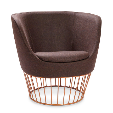 Dixi Low Back Chair with Wire Base