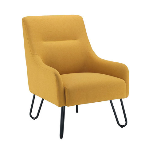 Pearl Chair in Mustard Upholstery