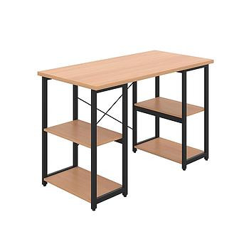Eaton Desk with Beech Top and Black Frame