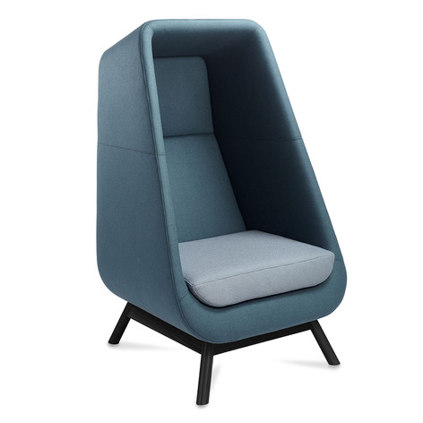 Muse Chair with Black Wooden Legs