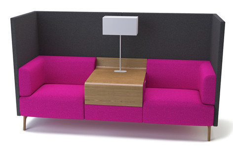 Tryst Double Sofa with High Back and Table