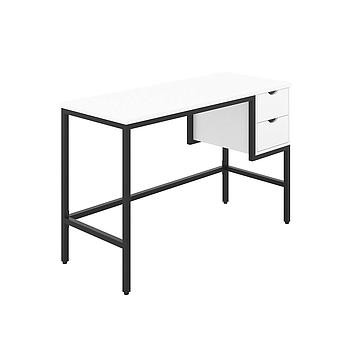Haynes Desk with White Top and Black Frame