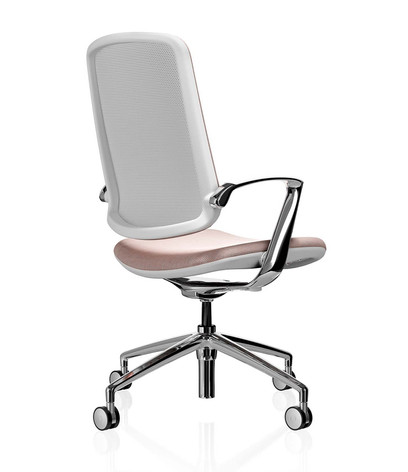 Trinetic Chair - White Frame with Chrome 4 Star Castors