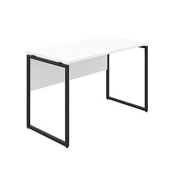 Milton Desk with White Top and Black Frame