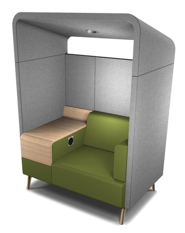 Tryst Single Person Booth with Roof and Table