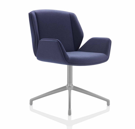 Kruze Chair - Fully Upholstered Shell with Silver 4 Star Glides