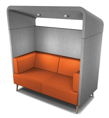 Tryst 2 Person Booth with Roof