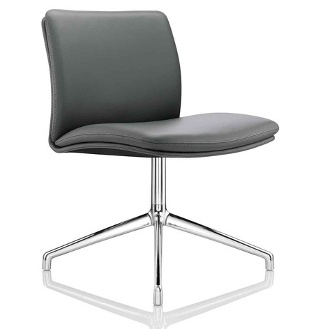 Tokyo Chair without Arms on 4 Star Chrome Glides