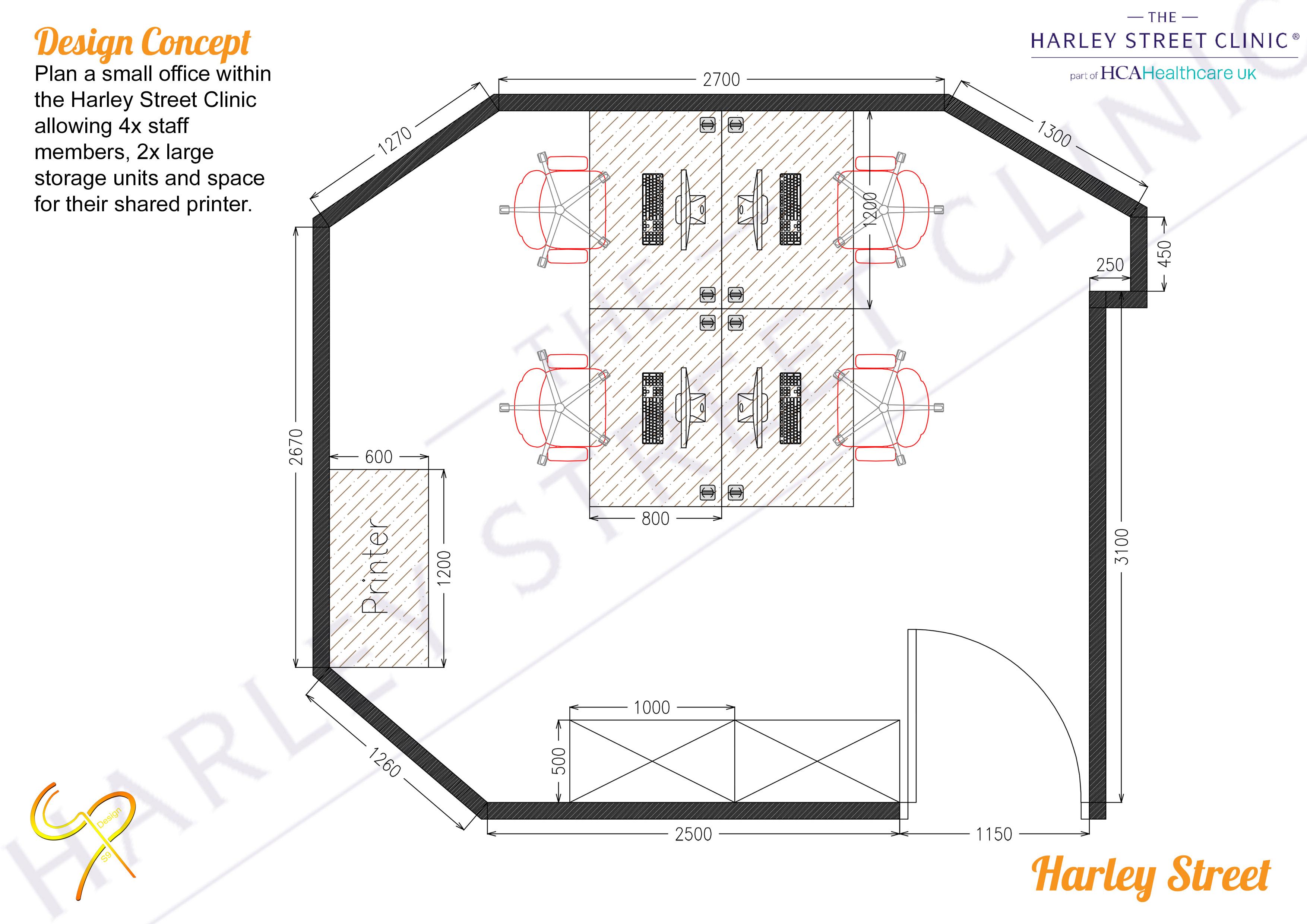 Harley Street Clinic - Office Plan