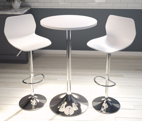 Astral Round Poseur Height Table