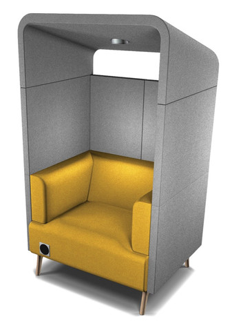 Tryst Single Person Booth with Roof