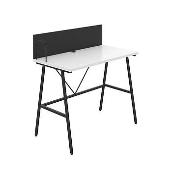 Bibury Desk with White Top and Black Frame