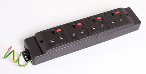 Black Underdesk Power Module