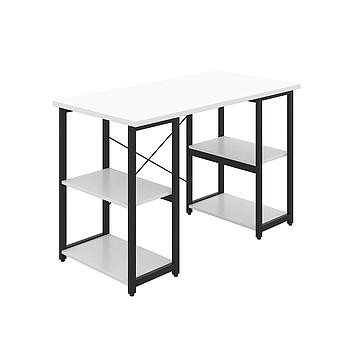Eaton Desk with White Top and Black Frame