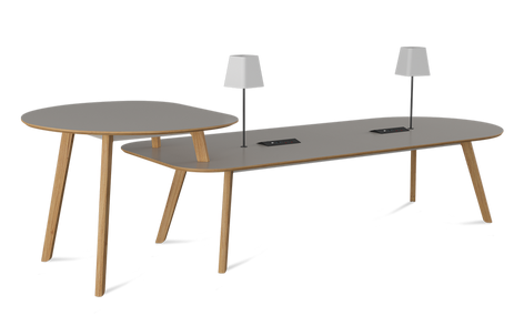 Co. Meeting Table with Poseur End, Power and Lights