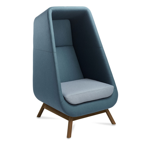 Muse Chair with Wenge Wooden Legs