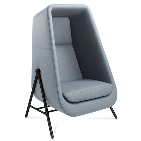 Muse Chair with Black Metal Legs