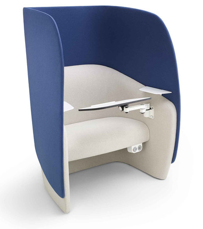 Mango Chair with High Back, Working Tablet and Shelves