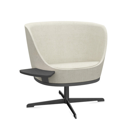 Dixi Low Back Chair with Cross Base and Tablet