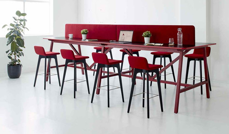 Agent Bar Stools in situ