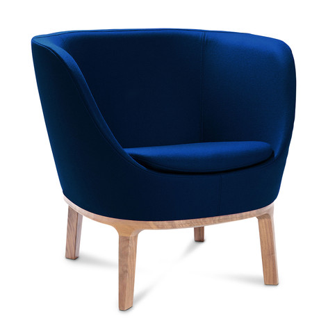 Dixi Low Back Chair with Wooden Feet