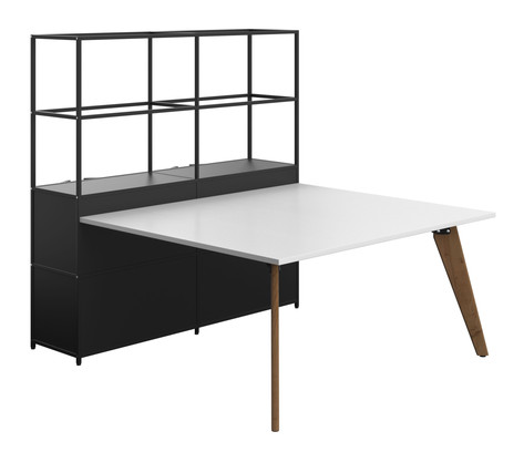 Atlas Shelving with Integral Bench