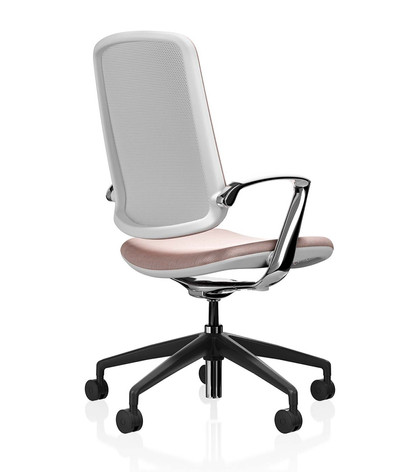 Trinetic Chair - White Frame with Black 5 Star Castors