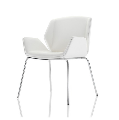 Kruze Chair - Fully Upholstered with Chrome Legs