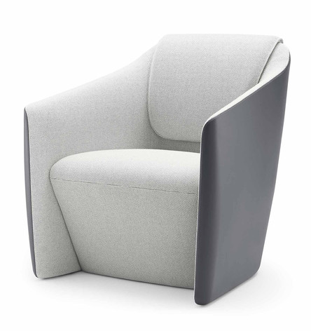 DNA Lounge Chair with Contrasting Upholstery