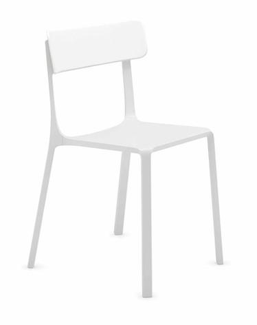 Sigma Chair in White Plastic Finish