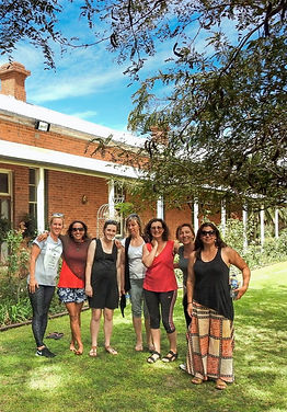 Ladies from a yoga retreat at Paika