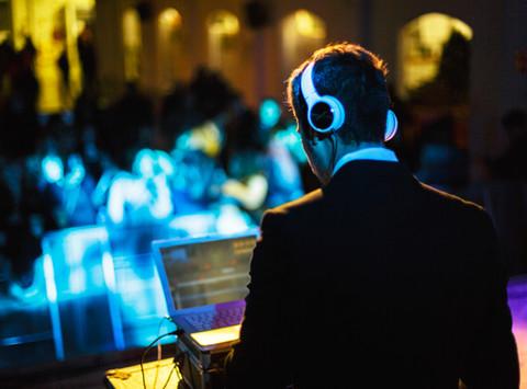 Der Tag der Hochzeit mit Musik