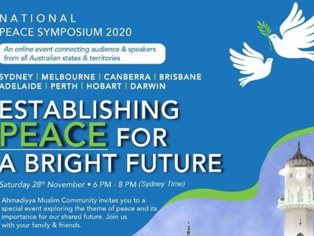 National virtual symposium-2020 To highlight the need for Peace on every level of society.