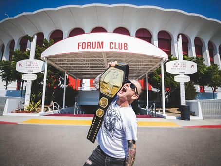 Corey Taylor med strupetak på WWE
