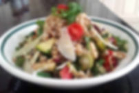 Vegetable and Farro Salad with Shaved Pe