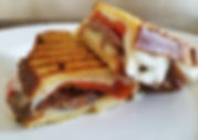 Sausage and Pepper Panini with Mozzarell