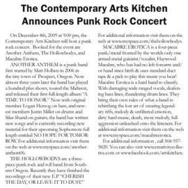 Contemporary Arts Kitchen