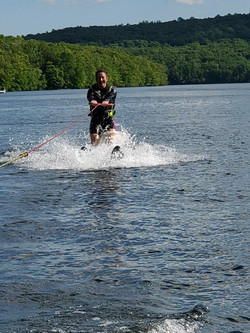 Me waterskiing