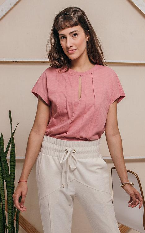 camiseta SYMI rosa vintage