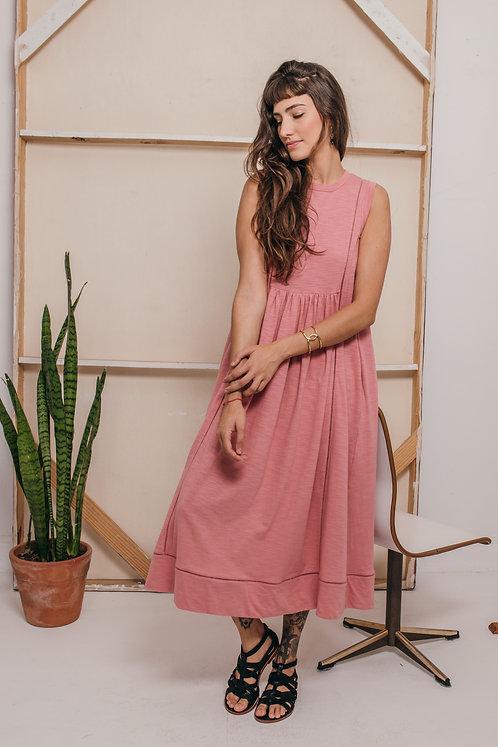 vestido AMALFI rosa vintage