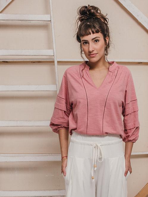 blusa MARINI rosa vintage