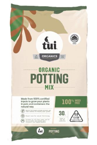 Potting Mix Organic  Tui 30 litre
