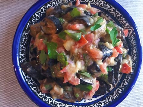 Aubergine Tahini Salad
