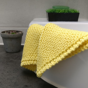 Knitted Cotton Face Cloth