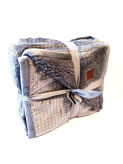 Gray Extra Soft Sherpa Throw - Comfort Gift