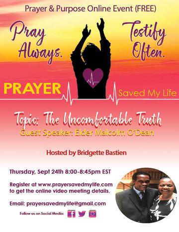 Online Prayer Meeting Flyer - The Uncomf