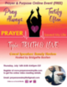 Online Prayer Meeting Flyer - truth and