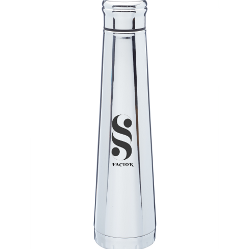 Silver Edge Stainless Steel Water Bottles (16 oz)